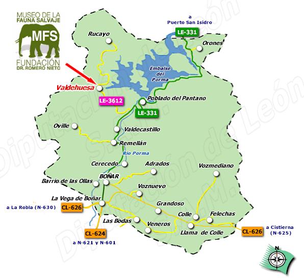 Mapa-valdehuesa y Museo