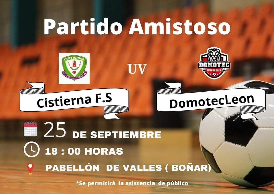 Partido Amistoso Fútbol Sala - Cistierna uv Domotec